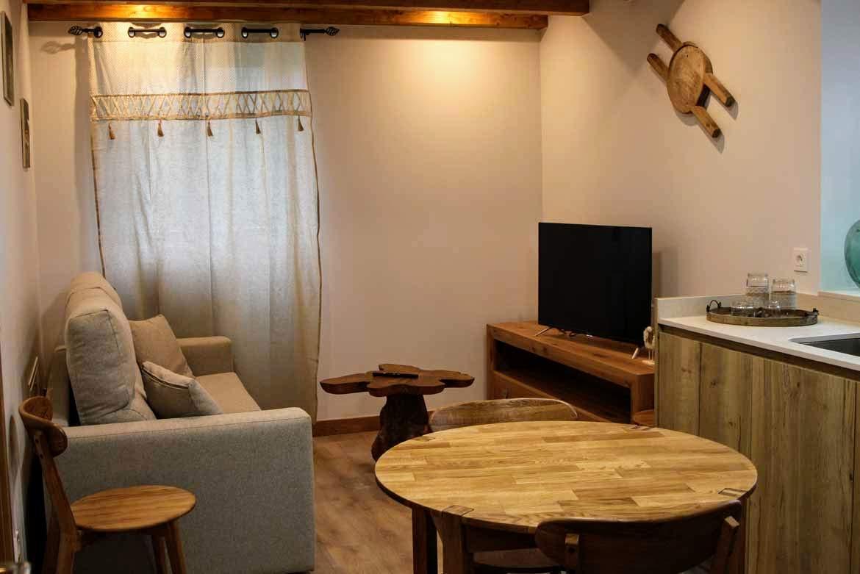salón-cocina apartamento Artzaia